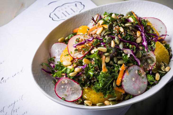 Curly Kale Salad with Quinoa, Dry Seeds, Red Radish and Orange Vinaigrette_2.jpg