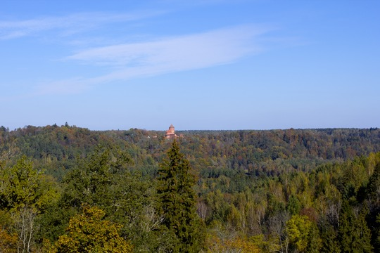 Turaida castle from Castle of Livonian Order in Sigulda.jpg
