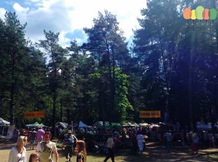 Market at Open Air Museum Riga Latvia in June.jpg
