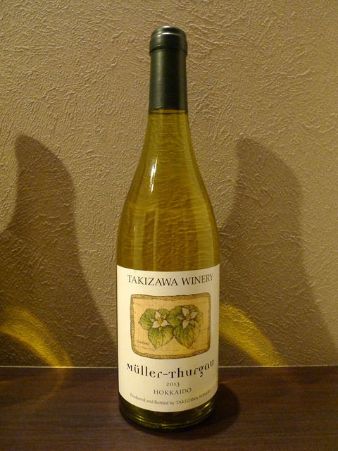 """Muller-Thurgau 2013"", produced and bottled by TAKIZAWA WINERY"