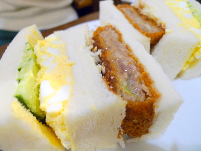 Sandwich of Menchi-katsu, Fried cake of minced meat & Egg