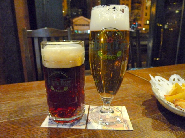Dunkel Beer and Pilsner Beer