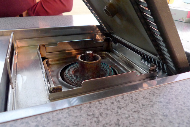 BBQ Table with built-in stove burner
