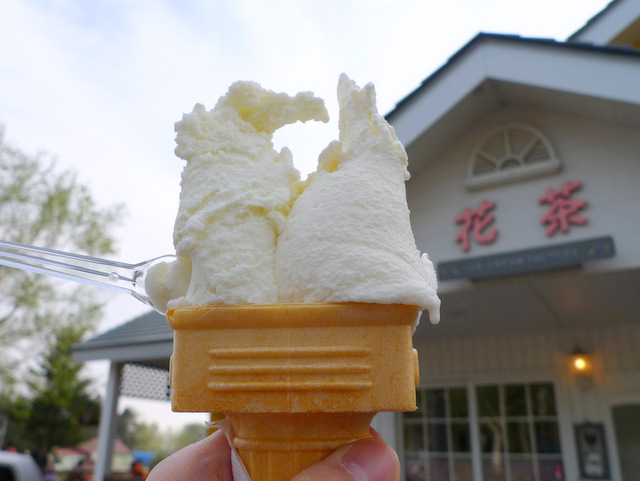 "Hand-Made Ice Cream ""Kacha"" in Chitose-shi"