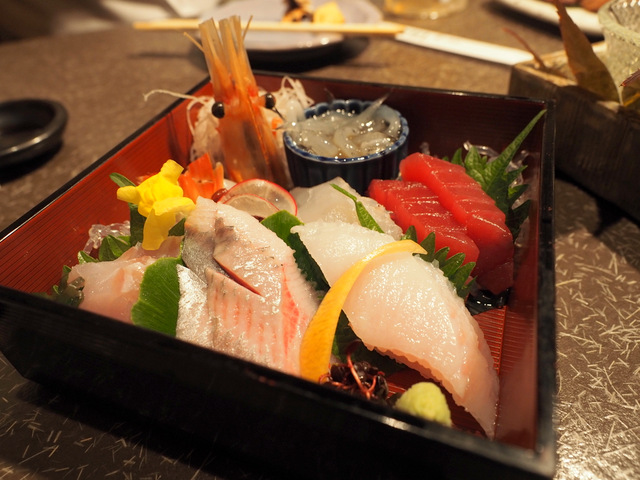 A Plate of Assorted Sashimi