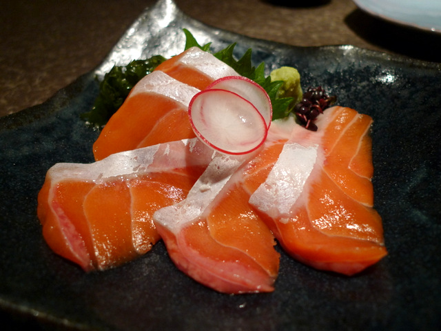 "Sashimi of Special Salmon "" Oosuke"" from Erimo-cho"