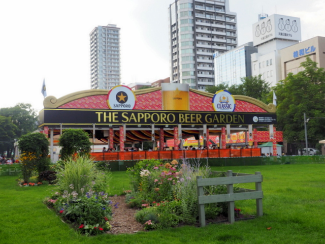 THE SAPPORO BEER GARDEN~One of the beer gardens in the Welfare Support Event Sapporo Odori Beer Garden held in Sapporo Odori Park from 22 July to 16 August