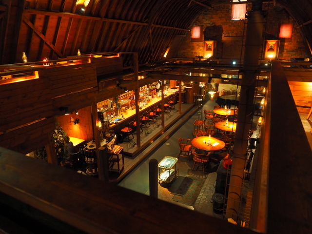 Inside of the Restaurant-Building which is designated as an important building of the Sapporo City landscape