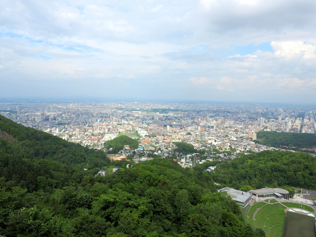 The city view of Sapporo