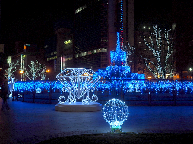 Spark Fountain in Odori Park 4-chome