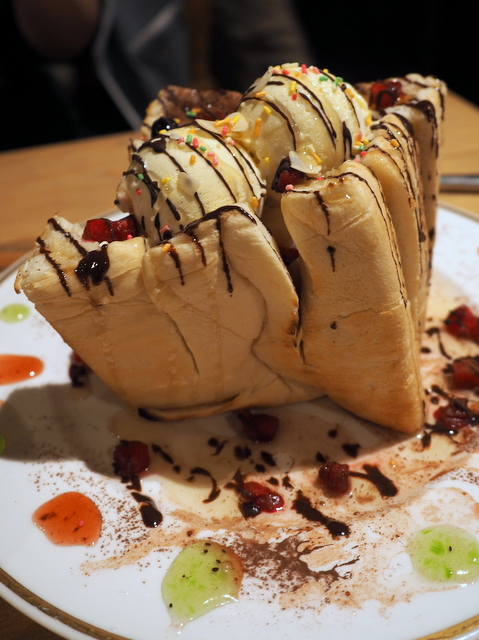 Big honey toast in forest style