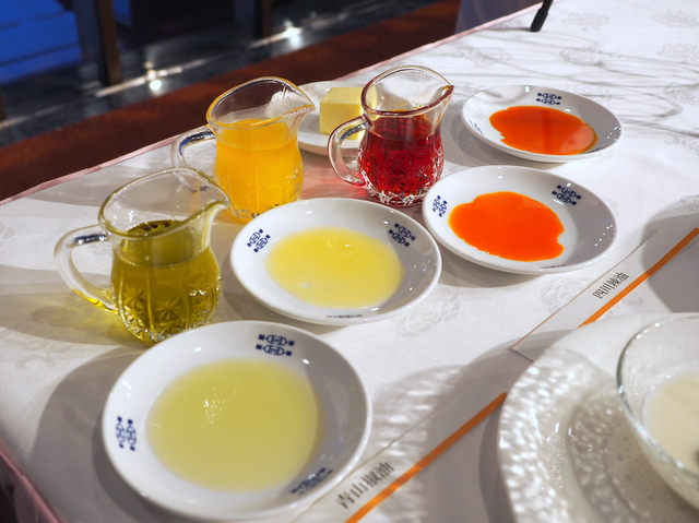 Various restaurant-made oils such as chicken fat