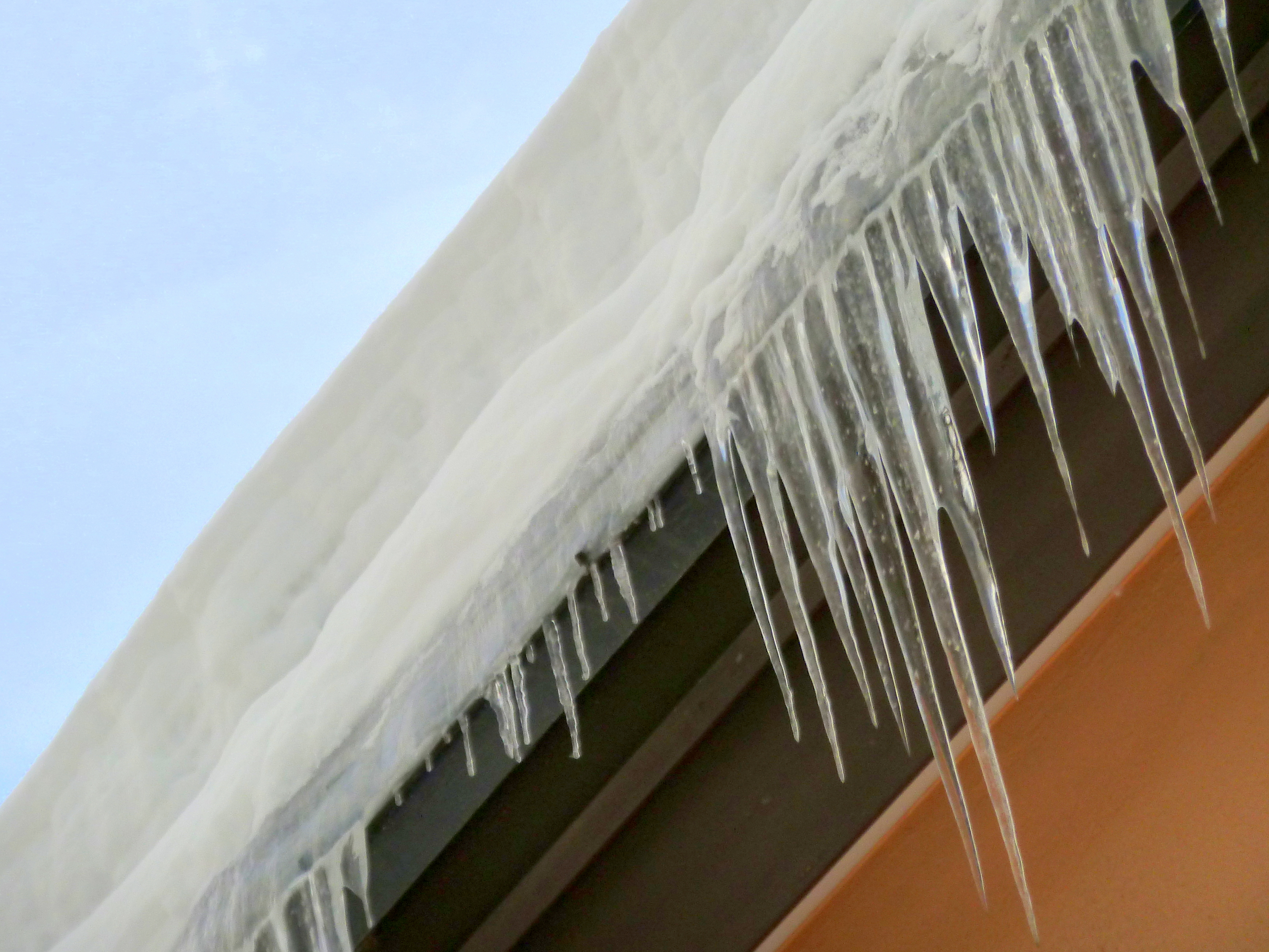 Icicles in winter of Sapporo