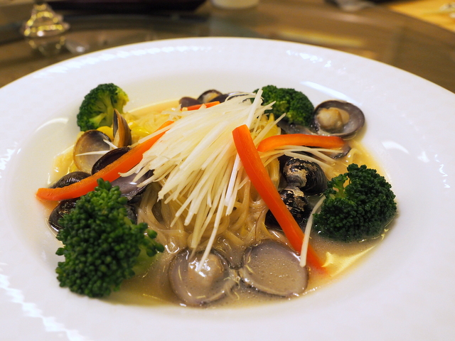 Noodle stew with freshwater clam from Abashiri
