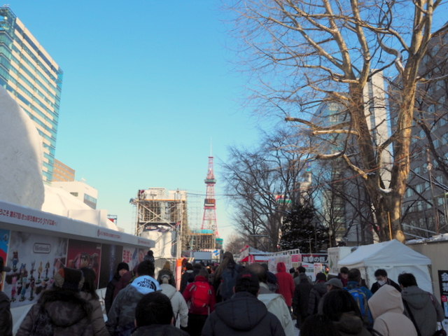 Spectators to visit the Sapporo Snow Festival