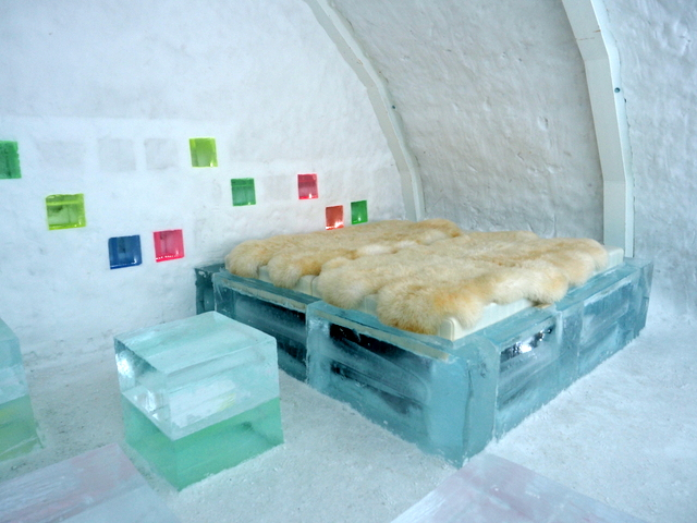"One of the Stay-Experience Housing ""CANDY ROOM"" with 9 ice cube chairs"