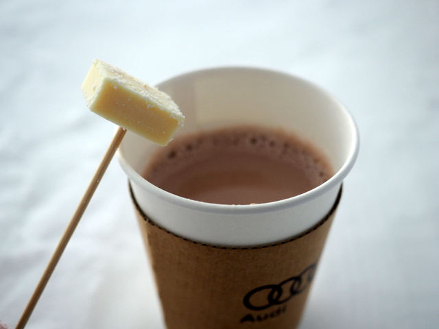 Hot chocolate with Nama chocolate of ROYCE'