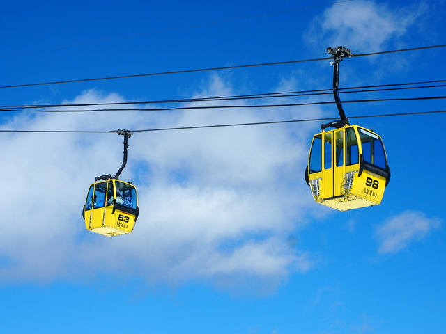 Gondolas which brings you to the top of the mountain