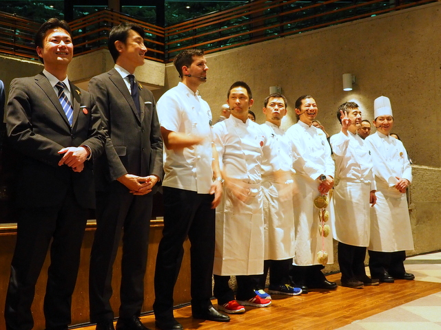 Chefs and sommeliers from Sapporo and Tokachi for this event