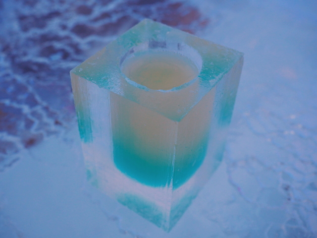 Cocktail at the Ice Bar