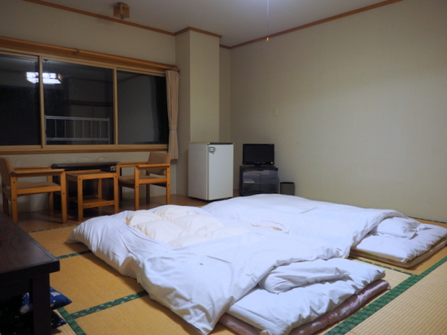 Guest room which is traditional Japanese style for onsen hotel