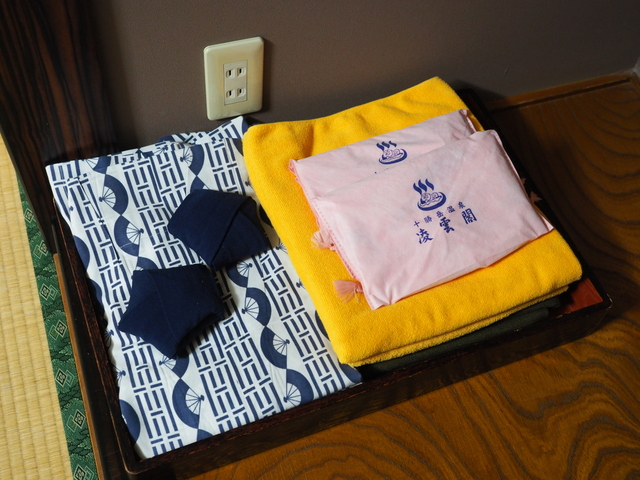 Japanese bathrobe, yukata and bathing sets for guests