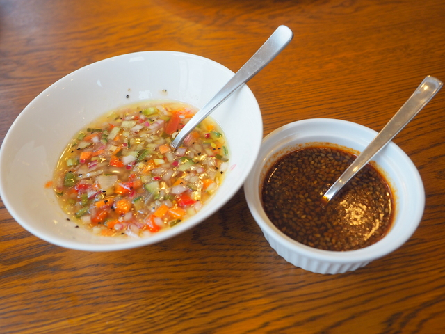Two kinds of sauce for Churrasco
