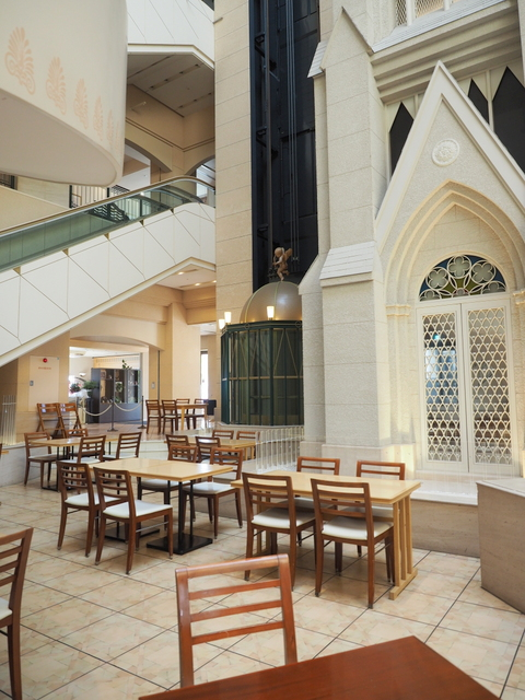 """Café DOM"" for breakfast which is a sun-filled atrium and open for lunch and dinner as well"