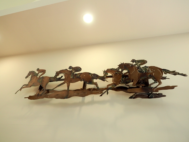 One of the decorations of horses in the factory and shop