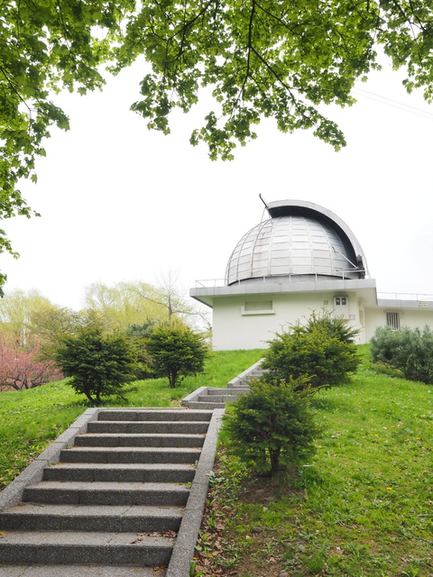 Astronomical observatory in Nakajima Park which is one of the smallest astronomical observatory in Japan