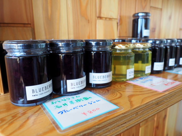 Jams made of local fruits in Furano