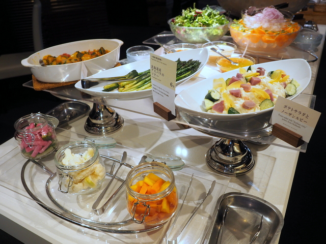 Salad and vegetables bar for breakfast of SAPPORO CROSS HOTEL