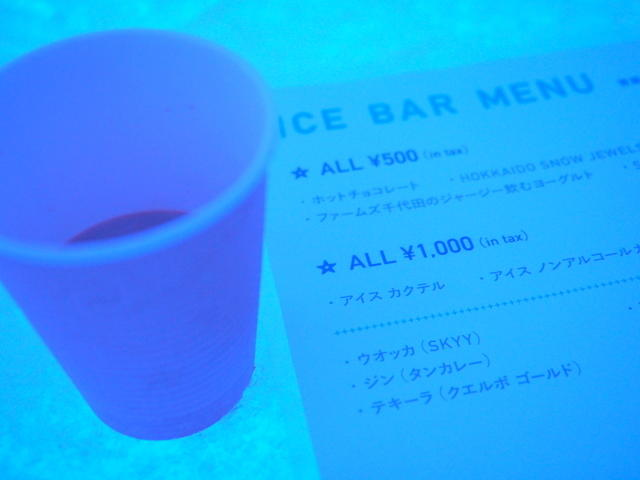 HOT CHOCOLATE (ICE BAR IN OF ICE STAR HOTEL)