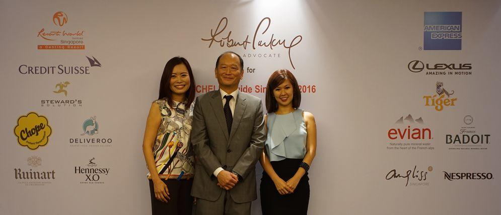L-R Michelle Ling, Program Director of MICHELIN guide Singapore; Chan Hock Sen, Vice President of Michelin%.JPG