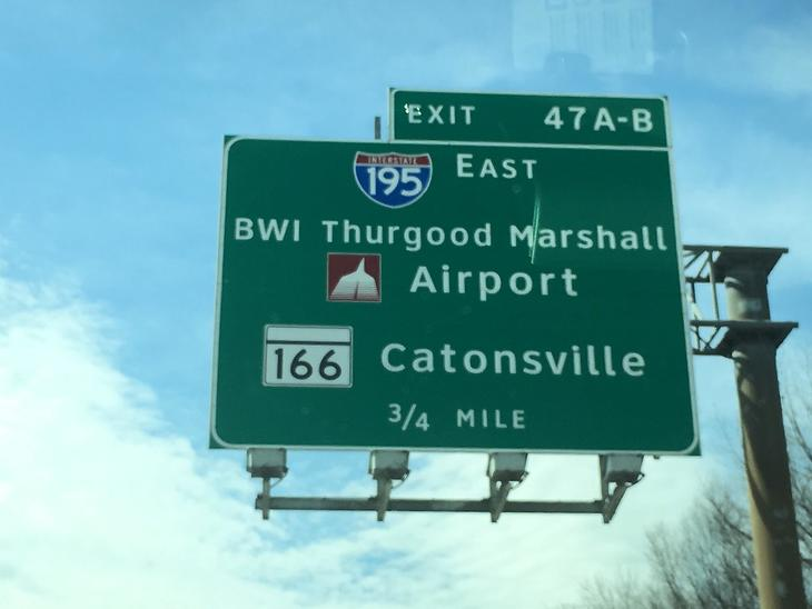 Exit 47 A B to BWI.JPG